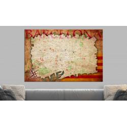 Billede på kork - Map of...