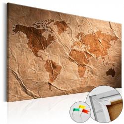 Billede på kork - Paper Map...