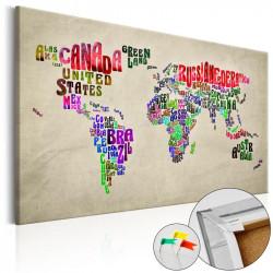 Billede på kork - Global...