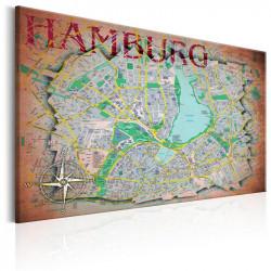 Billede - Map of Hamburg