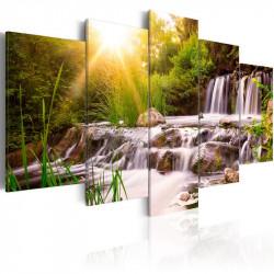 Billede - Forest Waterfall