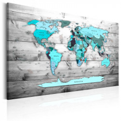 Billede - World Map: Blue...