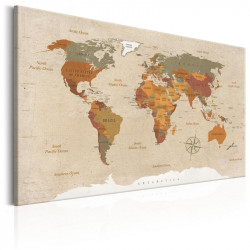 Billede - World Map: Beige...