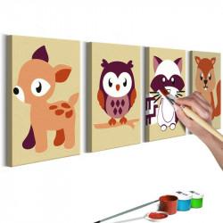 DIY lærred maleri - Forest...