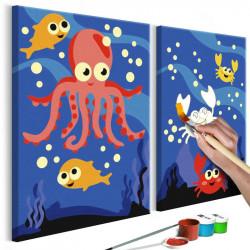 DIY lærred maleri - Ocean...