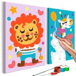 DIY lærred maleri - Lion &...