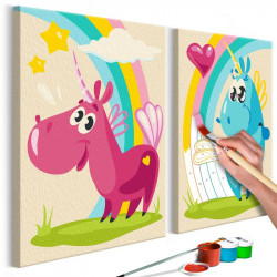 DIY lærred maleri - Sweet...