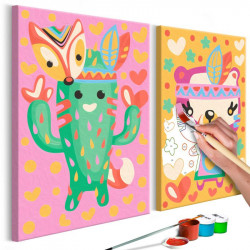 DIY lærred maleri - Cactus...