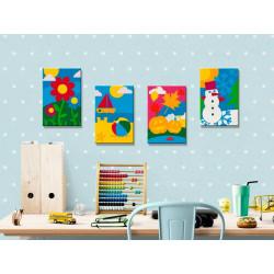 DIY lærred maleri - Four...