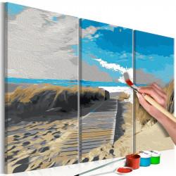 DIY lærred maleri - Beach...