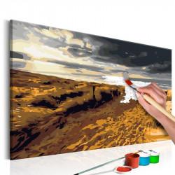 DIY lærred maleri - Wild Beach