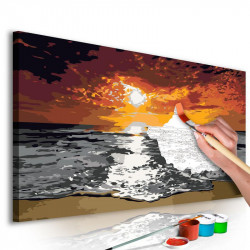 DIY lærred maleri - Sea...