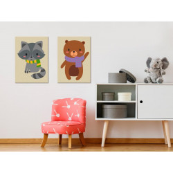 DIY lærred maleri - Raccoon...