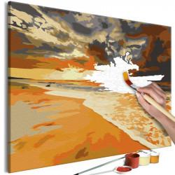DIY lærred maleri - Golden...