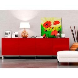 DIY lærred maleri - Poppies