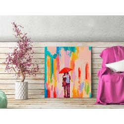 DIY lærred maleri - Couple...