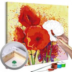 DIY lærred maleri - Poppies...