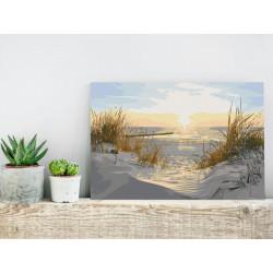 DIY lærred maleri - On Dunes