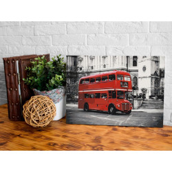 DIY lærred maleri - London Bus