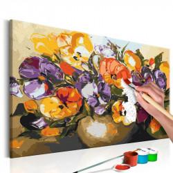 DIY lærred maleri - Vase Of...