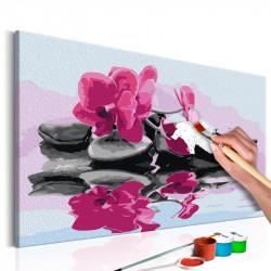 DIY lærred maleri - Orchid...