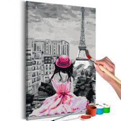 DIY lærred maleri - Paris -...