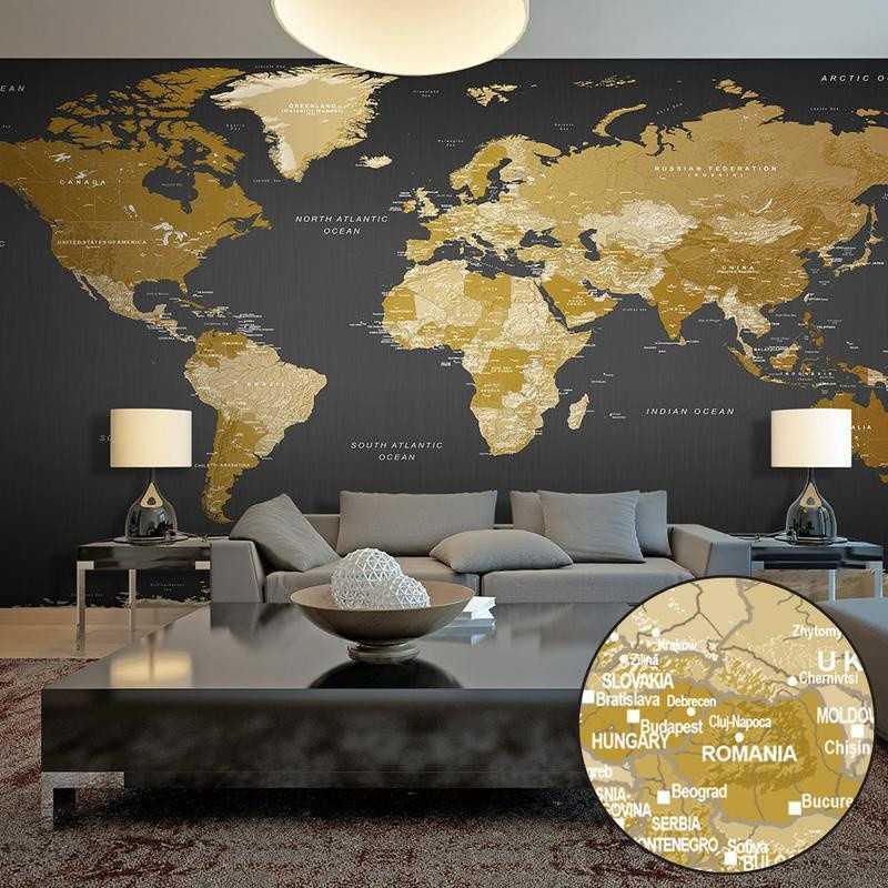 Selvklæbende fototapet - World Map: Modern Geography II