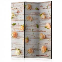Skærmvæg - Wood & Roses...