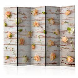 Skærmvæg - Wood & Roses II...