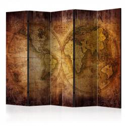 Skærmvæg - World on old map...