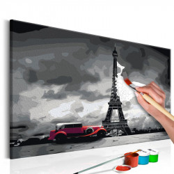 DIY lærred maleri - Paris...