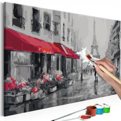 DIY lærred maleri - Rainy...