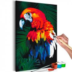 DIY lærred maleri - Parrot
