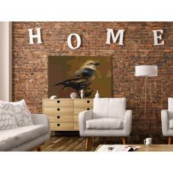 DIY lærred maleri - Bird on...