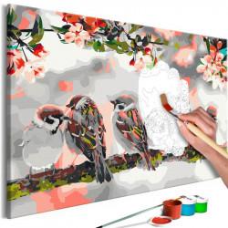 DIY lærred maleri - Birds...