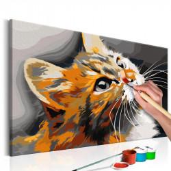 DIY lærred maleri - Red Cat