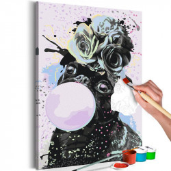 DIY lærred maleri - Bubble...