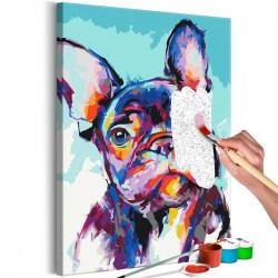 DIY lærred maleri - Bulldog...