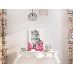 DIY lærred maleri - Kitty Cat