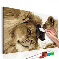DIY lærred maleri - Lions...