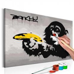 DIY lærred maleri - Monkey...