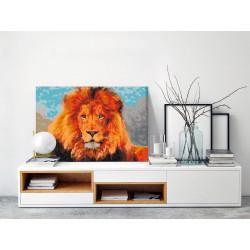 DIY lærred maleri - Lion