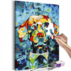 DIY lærred maleri - Dog...