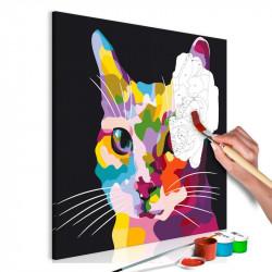 DIY lærred maleri - Spotted...