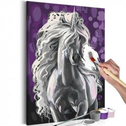 DIY lærred maleri - White...
