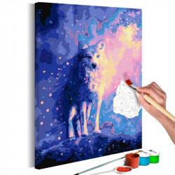 DIY lærred maleri - Wolf