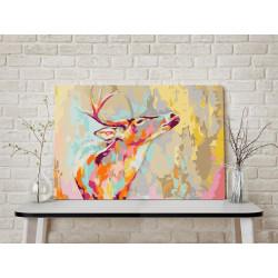 DIY lærred maleri - Proud Deer