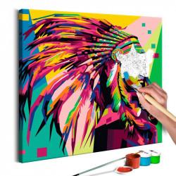 DIY lærred maleri - Native...