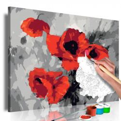 DIY lærred maleri - Bouquet...
