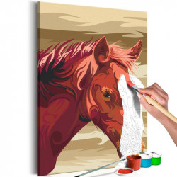 DIY lærred maleri - Brown...